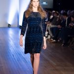 East fashion catwalk model Cerys Wrigley-Moss at Oxford Fashion Week