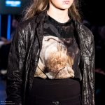 Olivia May catwalk model Cerys Wrigley-Moss at Oxford Fashion Week