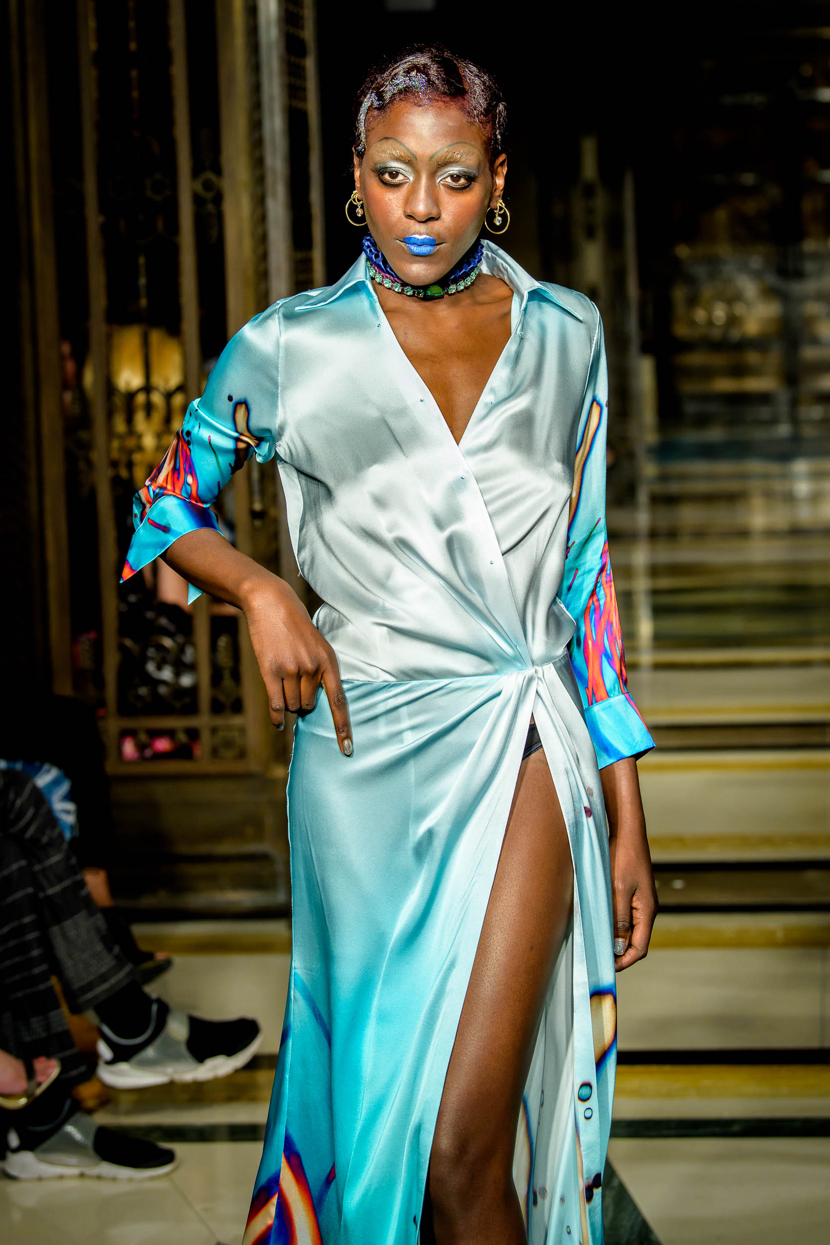 London Fashion Week S/S18 catwalk fashion show by Michaela Frankova photographer Barry Green
