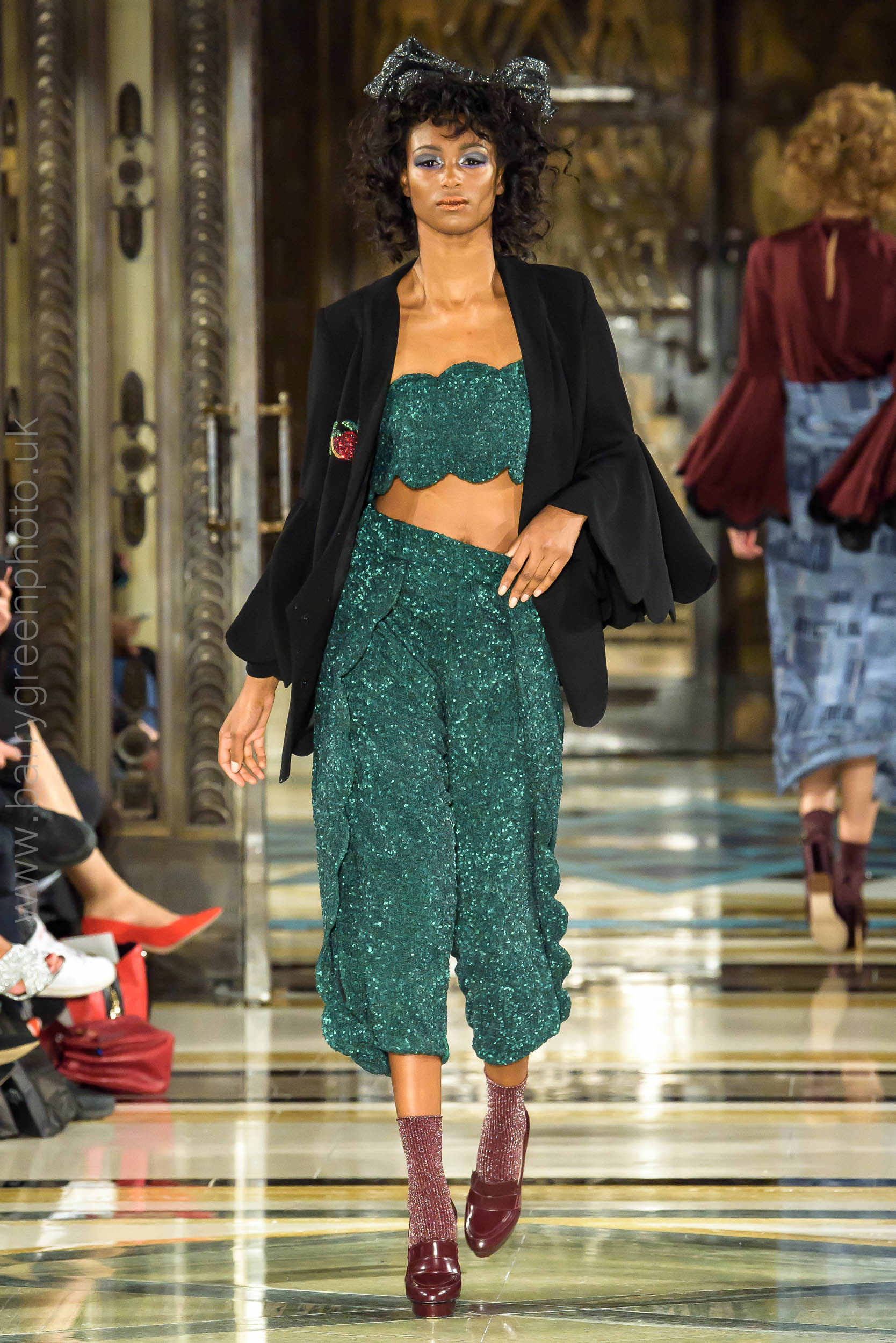 London Fashion Week ss18 catwalk collection by designer Amira Haroon from Dubai Design & Fashion Council DDFC