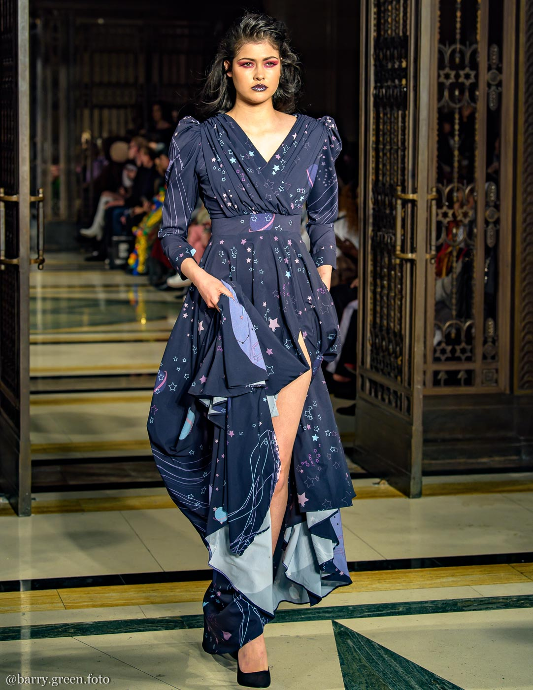 London Fashion Week AW18 catwalk collection by designer DeebyDalia from Dubai Design & Fashion Council DDFC