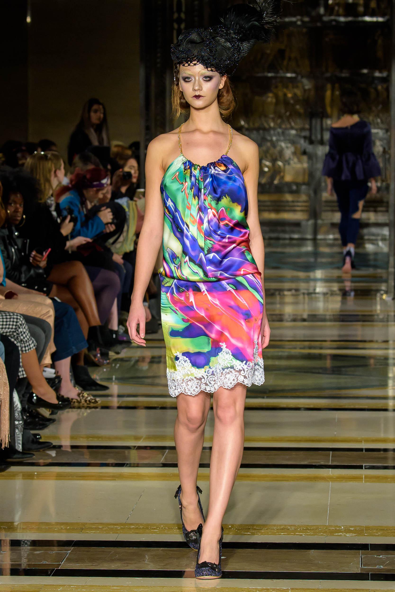 London Fashion Week S/S18 catwalk fashion show by Michaela Frankova photographer Barry Green