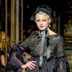 London Fashion Week S/S18 catwalk fashion show by Michaela Frankova, model Chloe Jasmine, photographer Barry Green