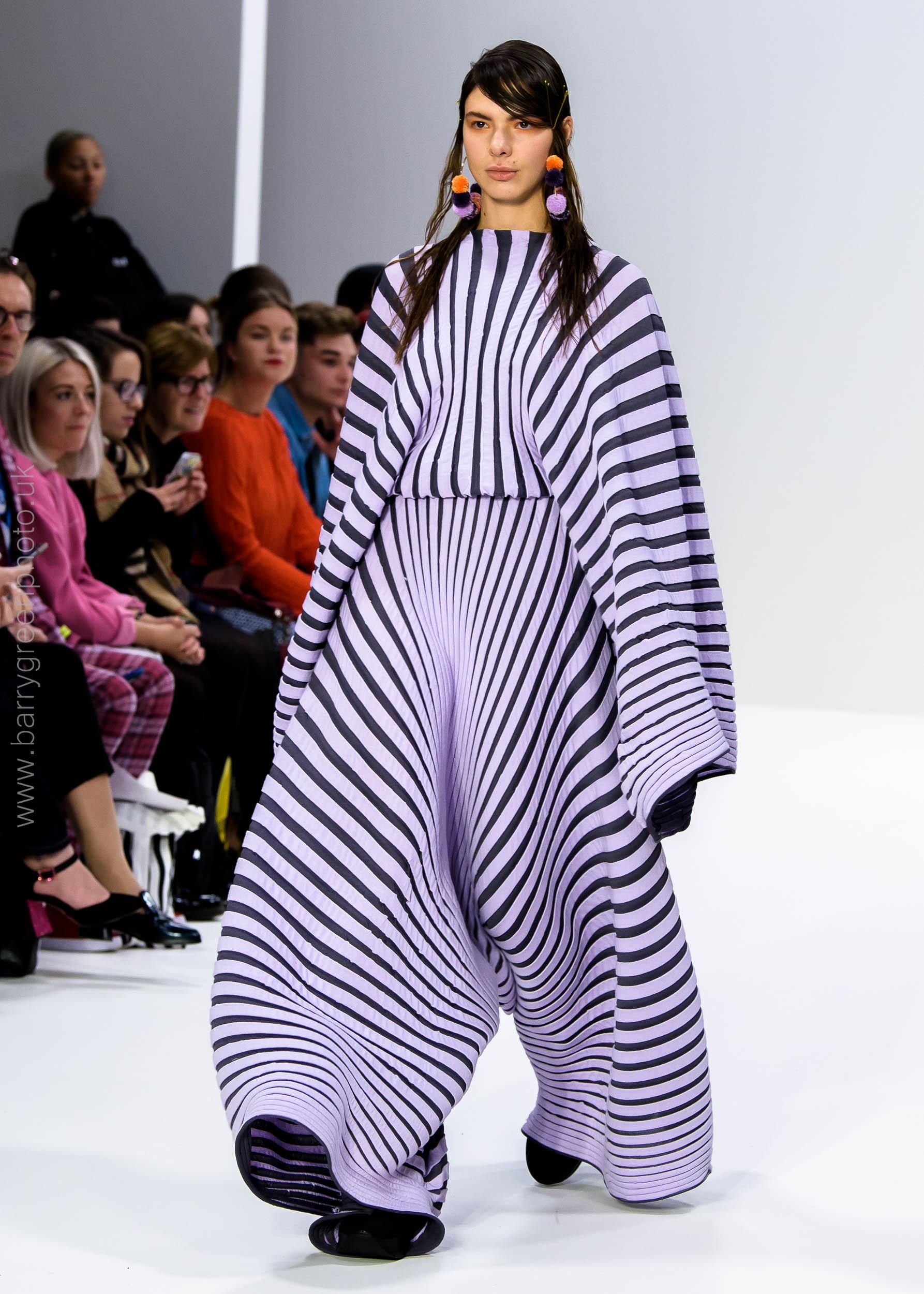 LondonFashionWeek ss18 designs by Swedish School of Textiles castwalk shows