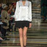 London Fashion Week ss18 catwalk collection by designer Amira Haroon from Dubai Design & Fashion Council DDFC