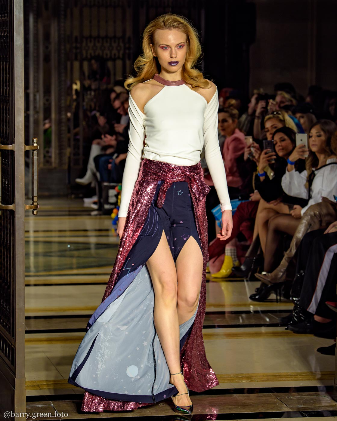 London Fashion Week AW18 catwalk collection by design label DeebyDalia from Dubai Design & Fashion Council DDFC