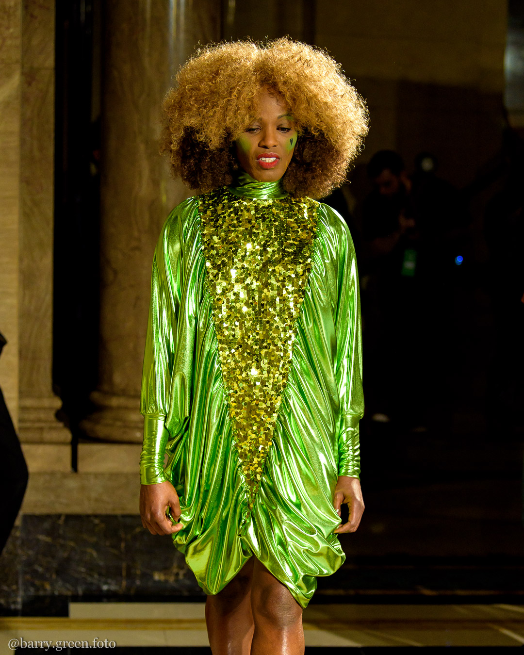 London Fashion Week AW18 catwalk collection by Pam Hogg International dedicated to Judy Blame